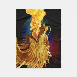 ドラゴンの火: 小さい毛布 フリースブランケット