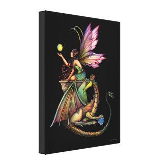 ドラゴンの球体の妖精のキャンバスのプリント キャンバスプリント