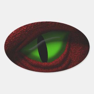 ドラゴンの目 楕円形シール