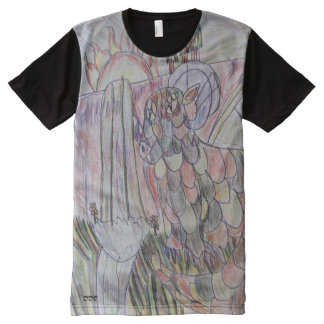 ドラゴンの芸術1 オールオーバープリントT シャツ