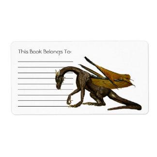 ドラゴンの蔵書票 ラベル