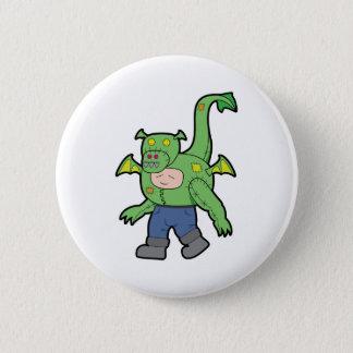 ドラゴンの衣裳の漫画の子供-ボタン 5.7CM 丸型バッジ