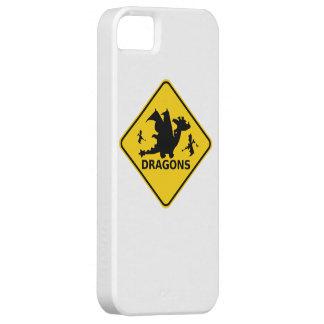 ドラゴンの警告標識の用心して下さい iPhone SE/5/5s ケース