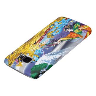 ドラゴンの銀河系S6の箱の芸者 SAMSUNG GALAXY S6 ケース