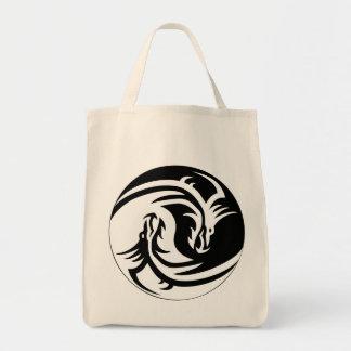 ドラゴンの陰陽のバッグ トートバッグ