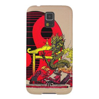 ドラゴンの陰陽のSamsungのiPhone S5 Galaxy S5 ケース
