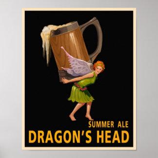 ドラゴンの頭部 ポスター