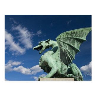 ドラゴンの4つの青銅色のドラゴンの1つ ポストカード