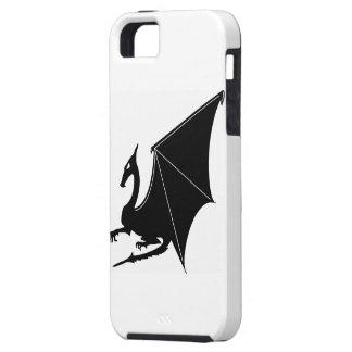ドラゴンのSillhouete iPhone SE/5/5s ケース