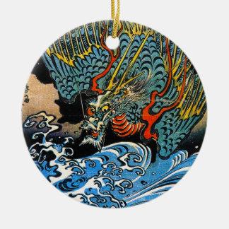 ドラゴンのUtagawa伝説の神話上のKuniyoshiの芸術 セラミックオーナメント