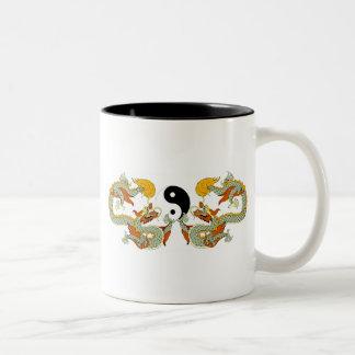 ドラゴンのYingヤンのギフト ツートーンマグカップ