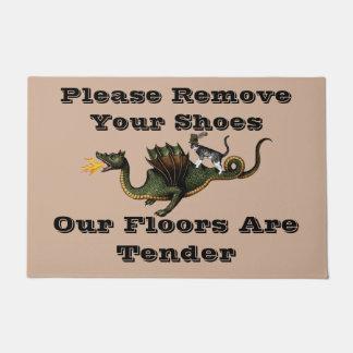 ドラゴンはあなたの靴を取除きます ドアマット