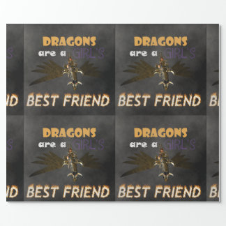 ドラゴンはSTEAMPUNKの女の子で親友です ラッピングペーパー