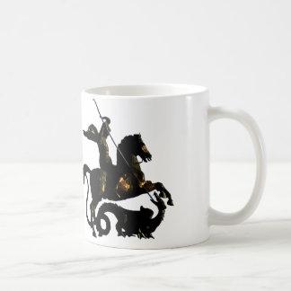 ドラゴンを殺害するセントジョージ コーヒーマグカップ