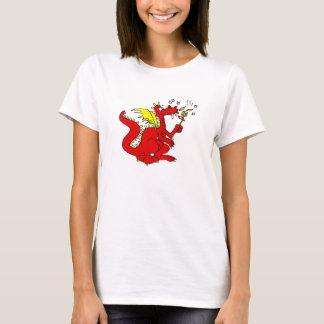 ドラゴンを焼くマシュマロ Tシャツ