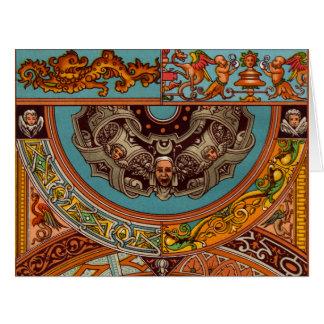 ドラゴン及びガーゴイルの大きい挨拶状 カード