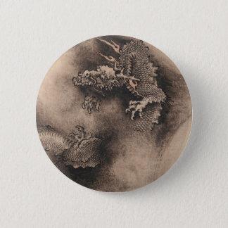 ドラゴン年の中国のな(占星術の)十二宮図の印Rボタン1 缶バッジ