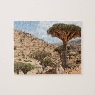 ドラゴン血の木の森林、ソコトラ島島、イエメン ジグソーパズル