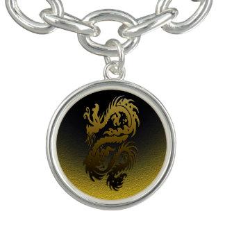ドラゴン23の金ゴールド チャームブレスレット