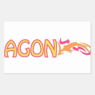 ドラゴン 長方形シール