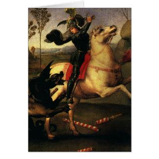 ドラゴン、Raphael、Raffaelloを戦うセントジョージ カード