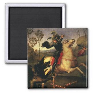 ドラゴン、Raphael、Raffaelloを戦うセントジョージ マグネット