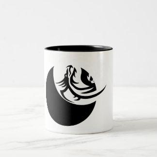 ドラゴン、Ying、ヤンのコーヒー、マグ ツートーンマグカップ