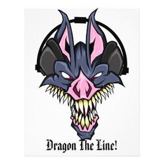 ドラゴンDjのフライヤのライン戦い チラシ