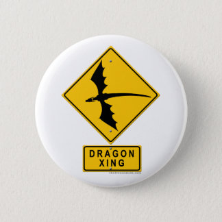 ドラゴンXING 5.7CM 丸型バッジ