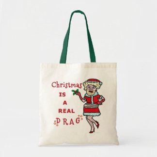 ドラッグのおもしろいなクリスマスBahばかばかしいサンタ トートバッグ