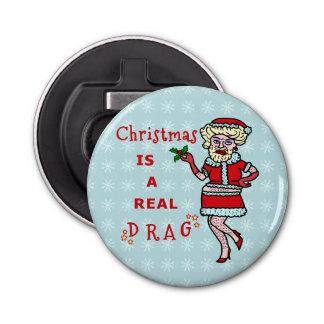 ドラッグのBahの詐欺のおもしろいなクリスマスサンタクロース 栓抜き
