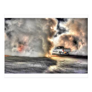 ドラッグ車田園クイーンズランドオーストラリア芸術の効果 ポストカード