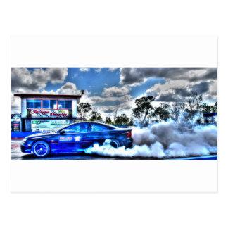 ドラッグ車田園クイーンズランドオーストラリア ポストカード