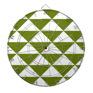 ドラブの緑および白い三角形 ダーツボード