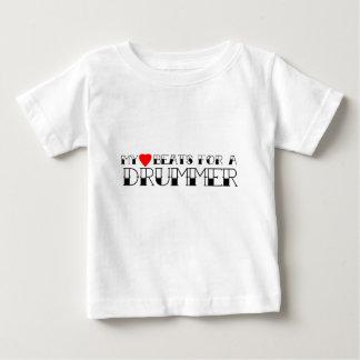 ドラマーのための私の心拍 ベビーTシャツ