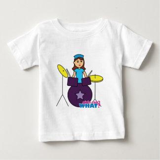 ドラマーの女の子 ベビーTシャツ