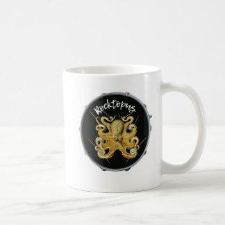ドラマーのRocktopusのタコのコーヒー・マグ コーヒーマグカップ