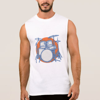 ドラムキットのオフセット 袖なしシャツ