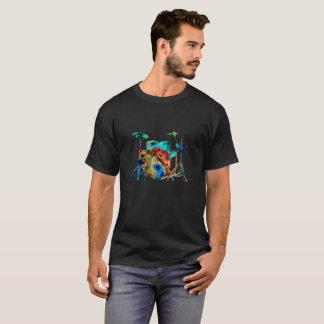 ドラムキットのティー Tシャツ