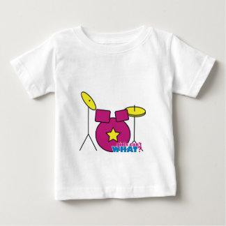 ドラムキット-ピンク ベビーTシャツ
