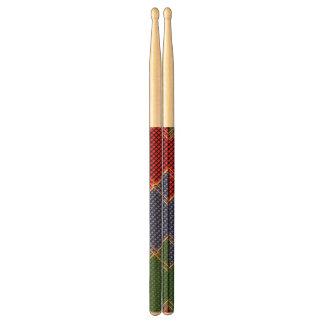 ドラムスティックの芸術のNavinJoshiの勝者のカラフルの点のおもしろい 太鼓用ばち