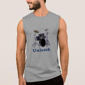 ドラムデザイン 袖なしシャツ