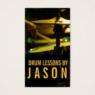 ドラムレッスン楽器の音楽教師 名刺