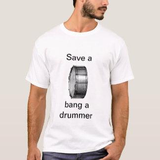ドラム強打をドラマー救って下さい Tシャツ