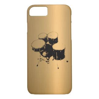ドラム青銅色の銅の効果のセット iPhone 8/7ケース