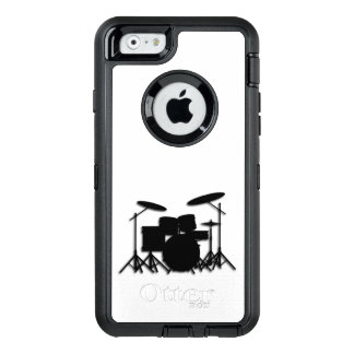 ドラム音楽デザインのシャワー・カーテン オッターボックスディフェンダーiPhoneケース