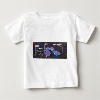 ドラム ベビーTシャツ