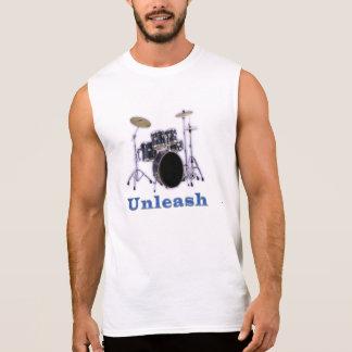 ドラムTシャツ 袖なしシャツ