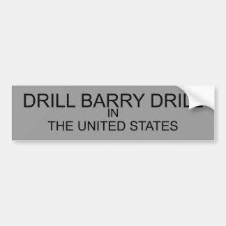ドリルのバリーのドリル バンパーステッカー