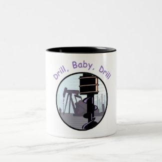 ドリルのベビーのドリルのマグ ツートーンマグカップ